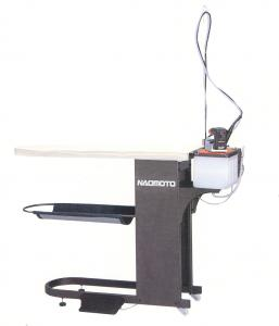 Naomoto, FB-8S, Vacuum, Ironing, &amp; Pressing, Table, Board , HYS-410P Variable Steam Pump Iron, Teflon Soleplate,  Water Tank, Garment Shelf, 75Lb, 110/220V